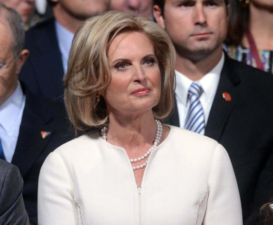 Ann Romney wore an Alfred Fiandaca skirt suit to the first debate.
