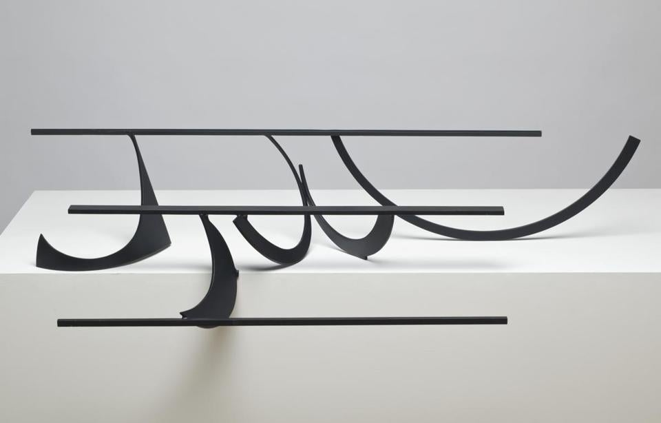 """Table Piece LXXX"" and other works demonstrate Caro's feeling for three-dimensional space."