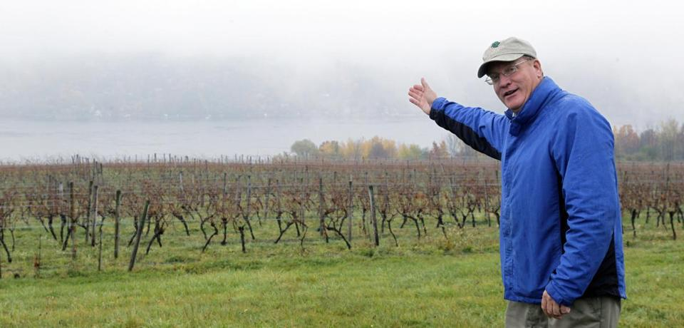 Vineyard owner Fred Frank fears traffic created by gas trucks will turn away tourists.