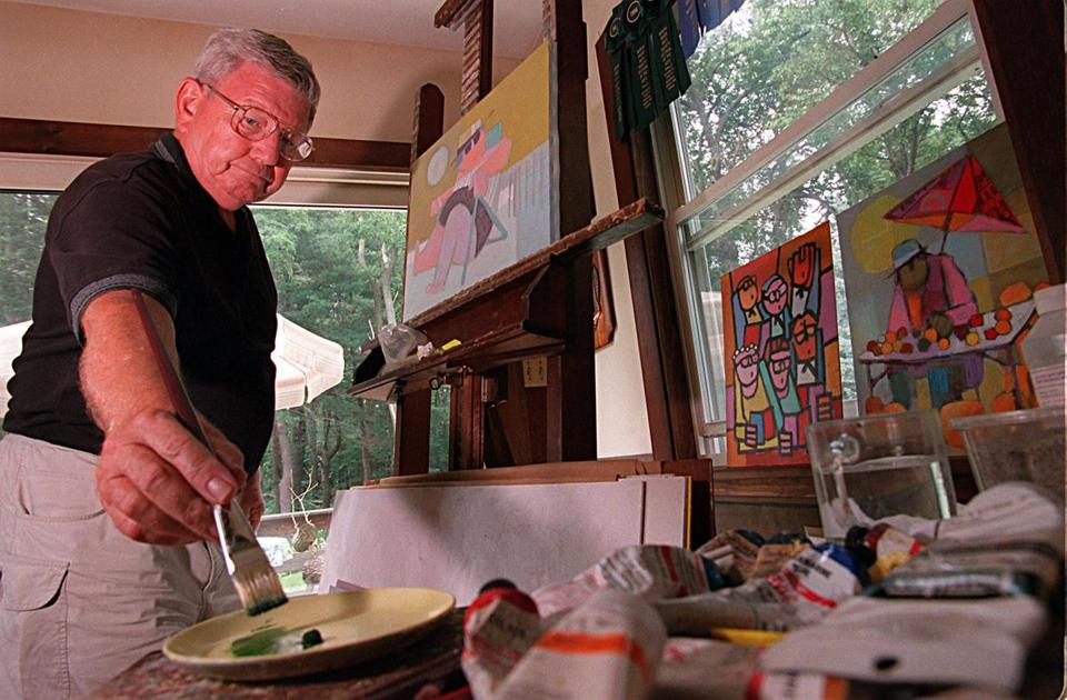 Mr. Kelly, who helped found the Pembroke Arts Festival, painted nearly every day.