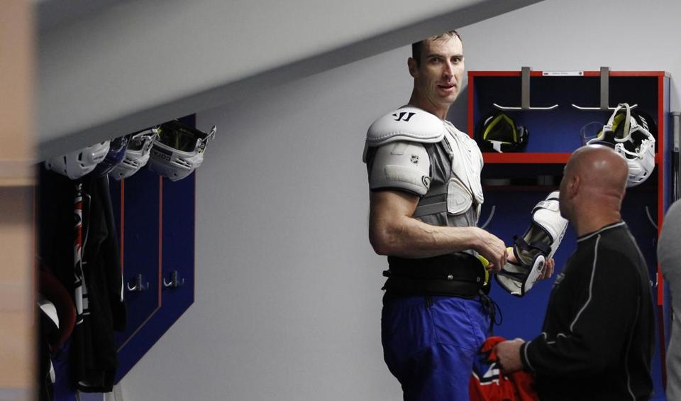 Bruins captain Zdeno Chara is in Prague, suiting up for the local Russian League (KHL) squad.