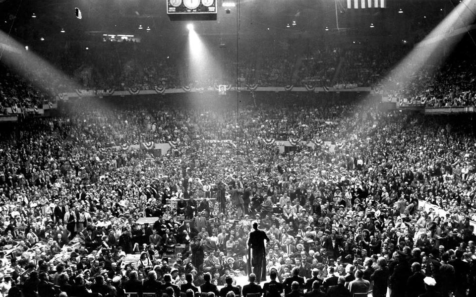 John F. Kennedy capped his 1960 campaign at Boston Garden. His victory was the summit of Irish political ascendance.