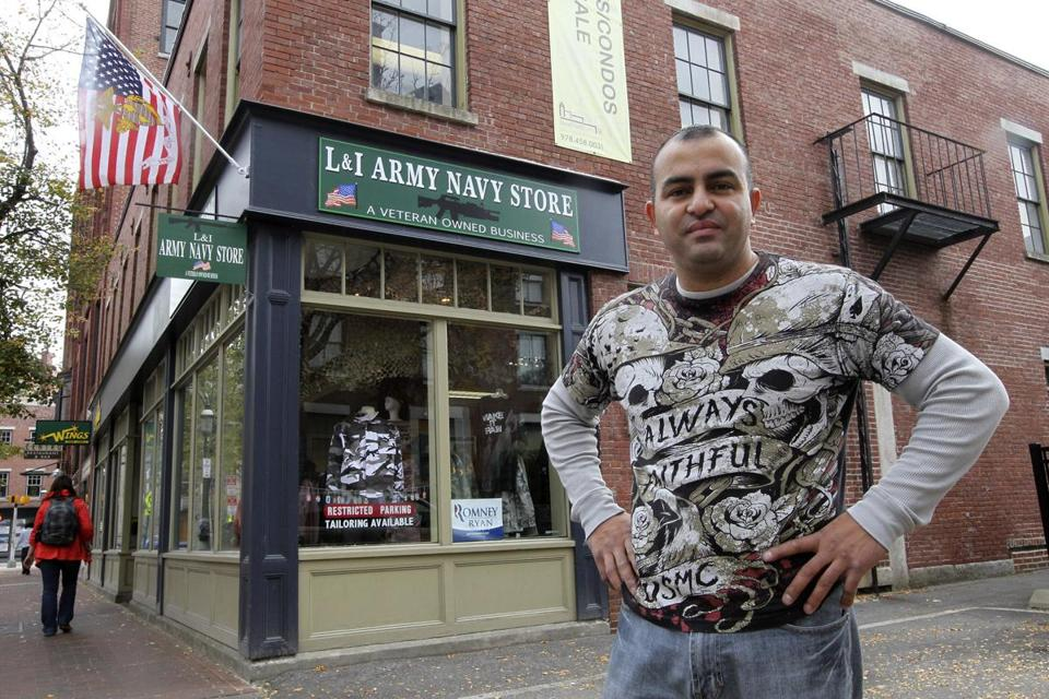 Glenn Morales started L & I Army Navy Store in Lowell, named after his daughters Lucy and Isabel, after returning from duty in Iraq.