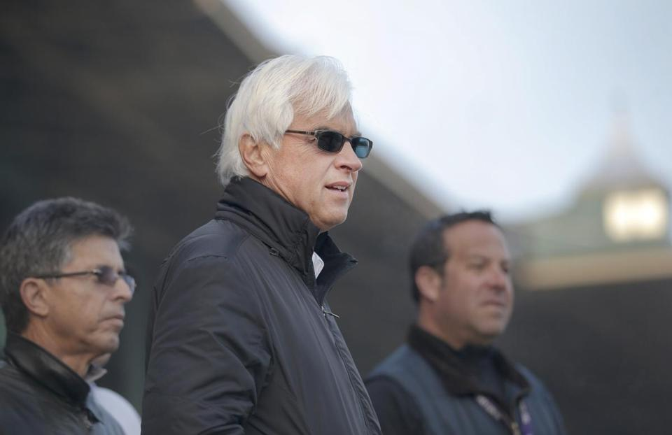 Bob Baffert returned to the track with a different outlook after suffering a heart attack in March.