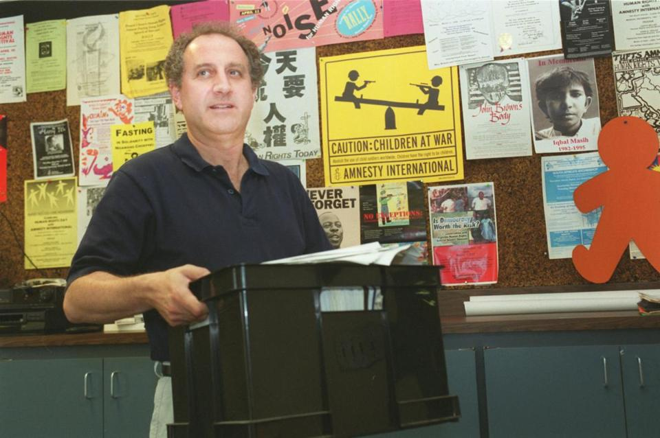 Josh Rubenstein, shown here in 2001, has worked tirelessly on behalf of prisoners of conscience for 37 years.