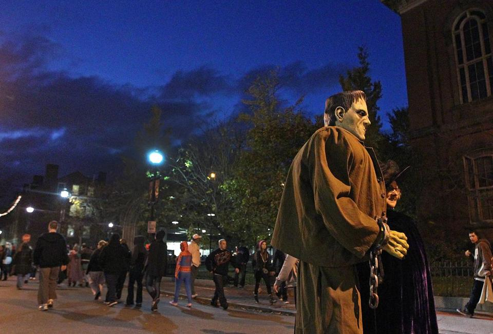 Halloween in downtown Salem was not the wild spectacle it has typically been in other years.