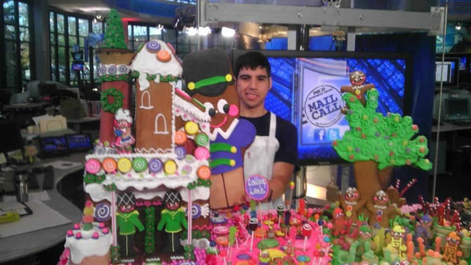The gingerbread house built by Ginger Betty's Bakery in Quincy for this weekend's 19th annual competition in Boston.