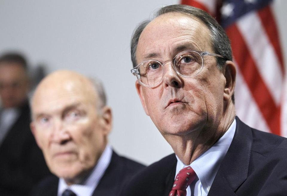 Erskine Bowles, right, and Alan Simpson, left, released their report in late 2010.
