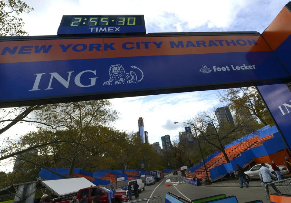 Preparations had already begun for what would have been Sunday's running of the 43rd New York City Marathon.