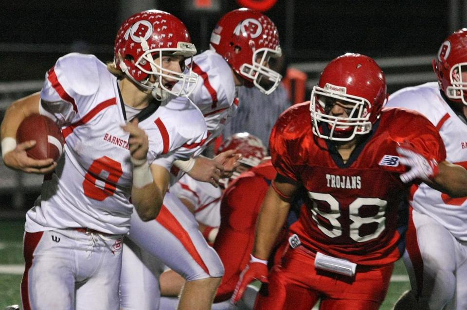 Running back Hayden Murphy and Barnstable kept B-R at bay to earn a playoff rematch against Lincoln-Sudbury.