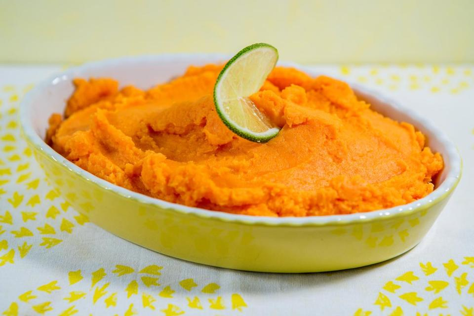 Sweet potato puree with lime and honey