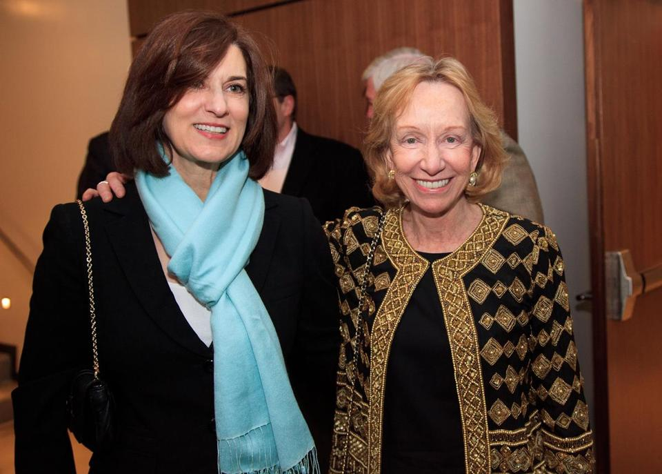 "Author Doris Kearns Goodwin, right, and Vicky Kennedy, left, at a screening of ""Lincoln"" at the Theatre 1 Boston in the Revere Hotel."
