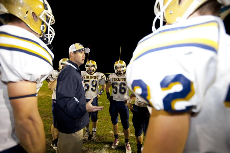 Shawn Tarpey, who installed senior Andrew Benson as quarterback, has coached the Vikings to a 6-3 record this season.