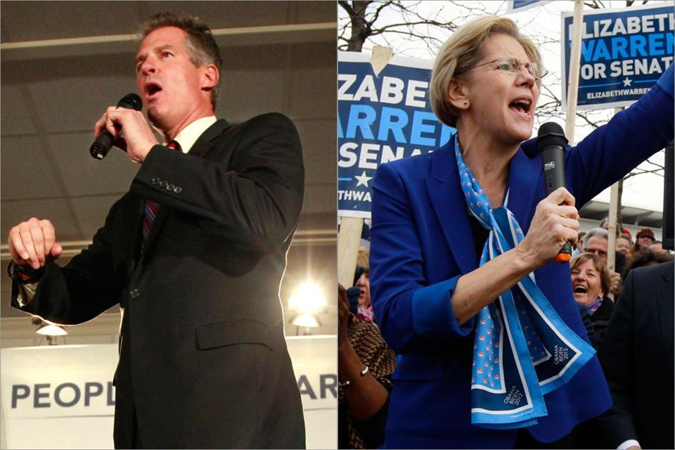 Scott Brown and Elizabeth Warren made frantic final appeals to a few of those key areas Monday, hugging babies and holding rallies in places such as Framingham, Worcester, and Fall River.