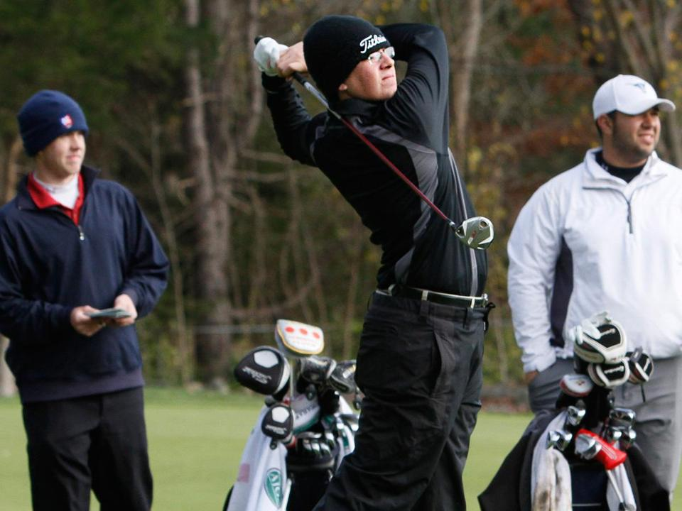 Needham's Jake Shuman was one of only two golfers to shoot 75 or better. His 1-over 72 earned him the win.