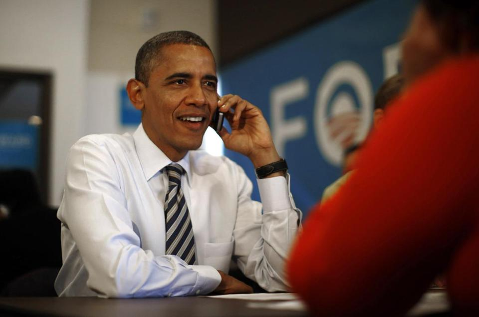 President Obama made phone call to a volunteer Tuesday.
