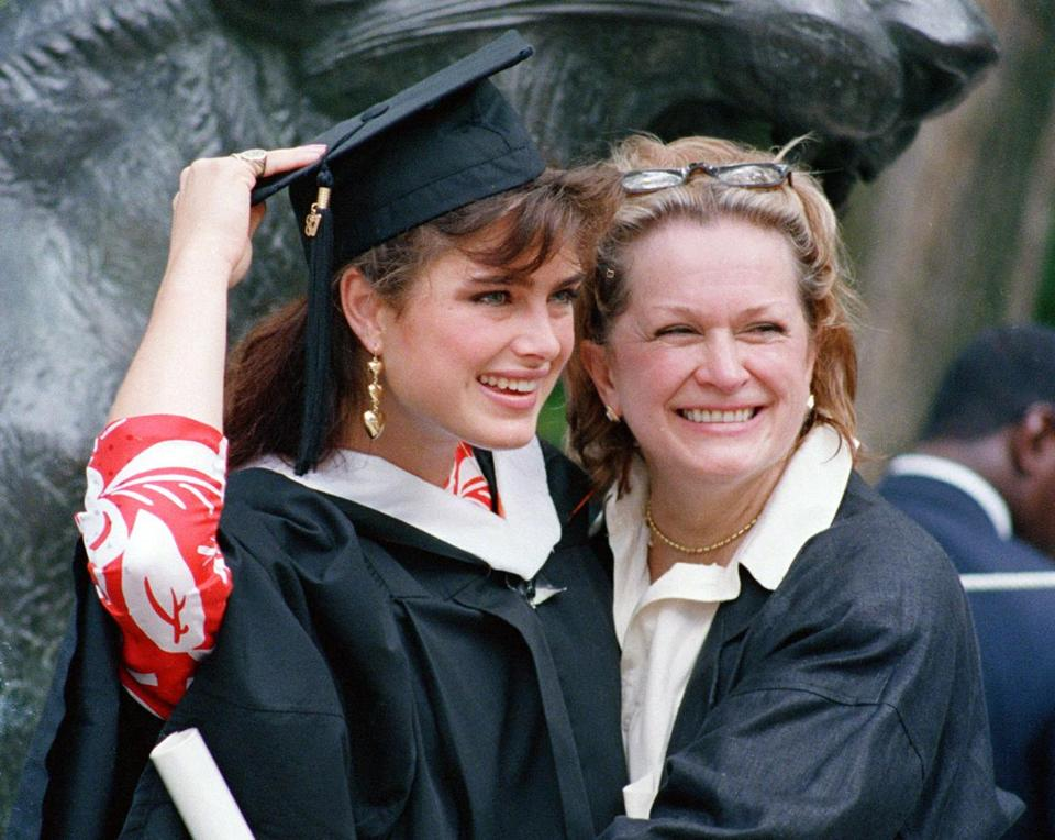 Teri Shields at her daughter's graduation from Princeton.