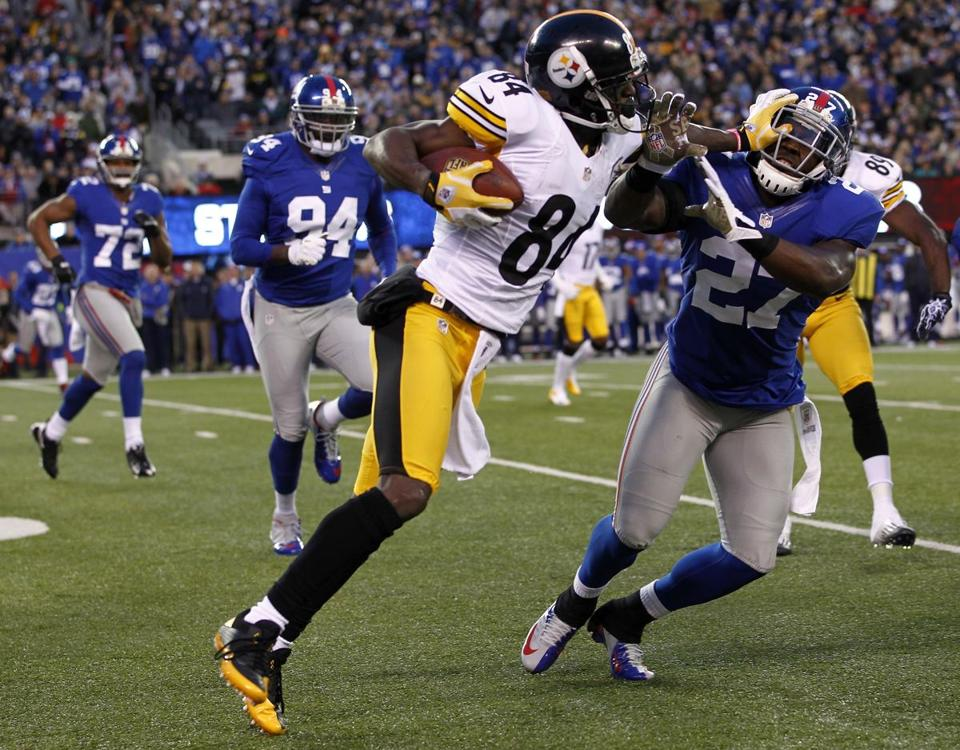 Steelers receiver Antonio Brown sprained his right ankle in a 24-20 victory over the Giants last Sunday.