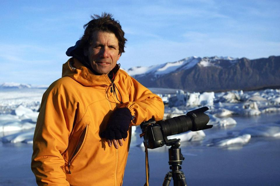 "Photographer James Balog in Iceland during the filming of ""Chasing Ice.''"