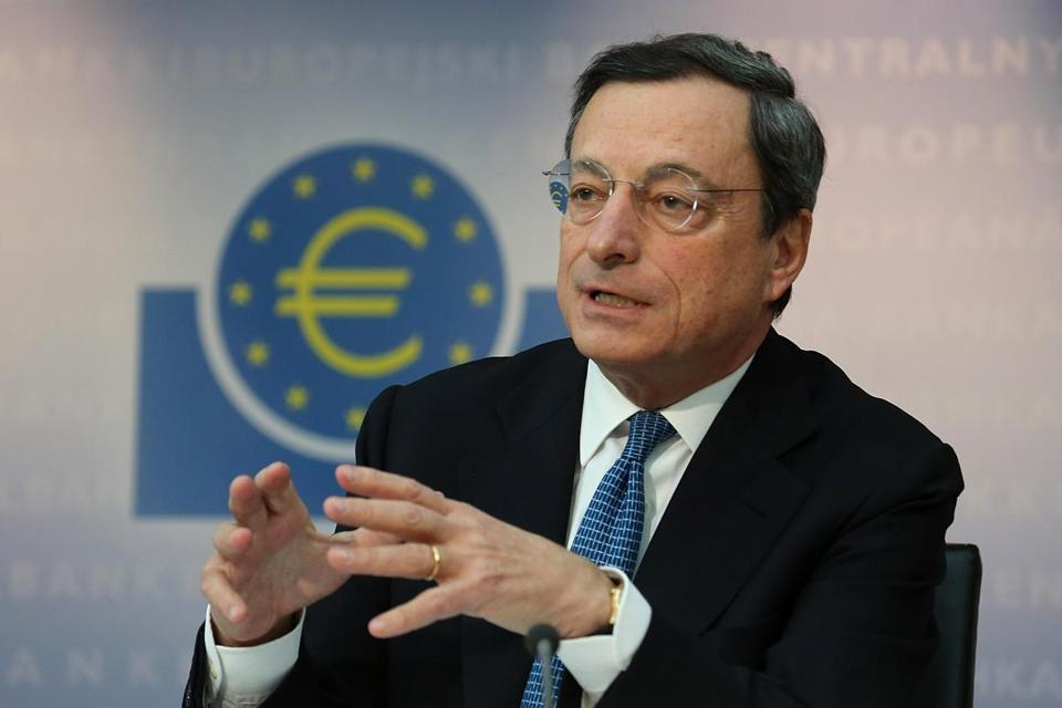 European Central Bank president Mario Draghi says the eurozone is poised for recovery that may be slow but solid.