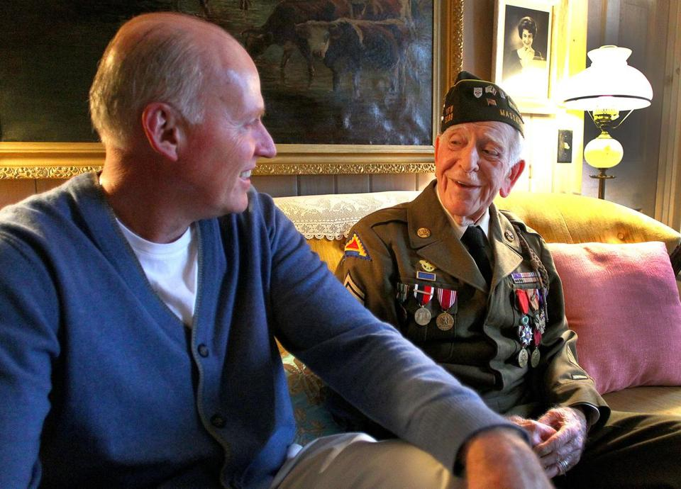 World War II veteran Robert Ware Foster reflected on his tour of duty with his friend, Ed McGonagle, 54 a WWII enthusiast.
