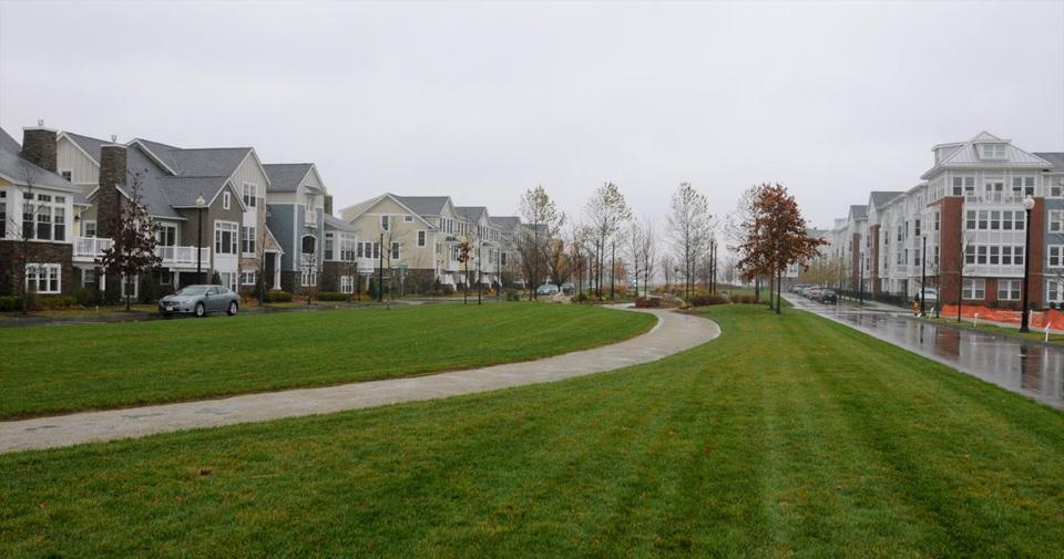 The SouthField development on the former South Weymoth Naval Air Station will eventually include 2,855 homes.