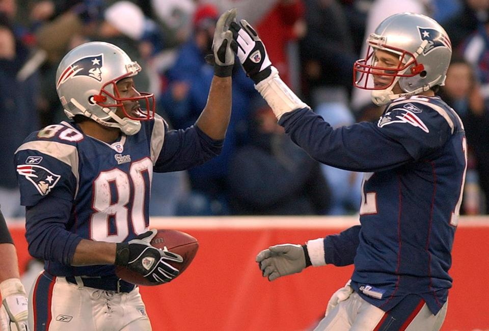 Tom Brady and Troy Brown celebrated after connecting for a touchdown during their fourth-quarter comeback, but the good feelings would be temporary since the Patriots would end the day on the outside of the playoff field.