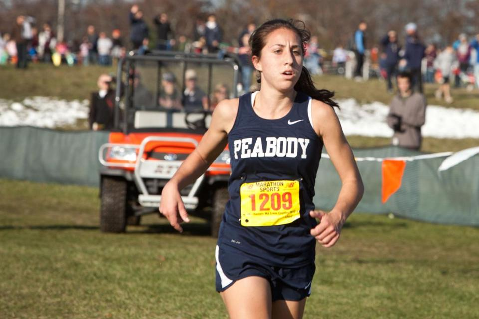 Peabody's Catarina Rocha won the Division 1 girls' race at Wrentham Developmental Center by more than 50 seconds.