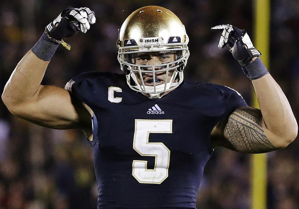 With inner strength, Manti Te'o has overcome personal tragedy to help put the Irish in the national title hunt.