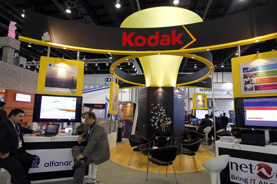 The Kodak display at the Gulf Information and Technology Exhibition in Dubai in October.