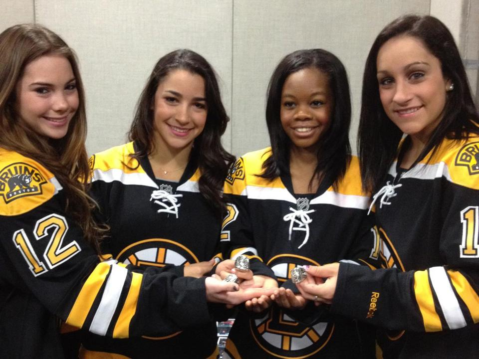 Above (from left): McKayla Maroney, Aly Raisman, Gabby Douglas, and Jordyn Wieber.