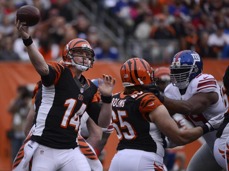 Andy Dalton spread around his career-high four touchdown passes to four Bengals receivers.