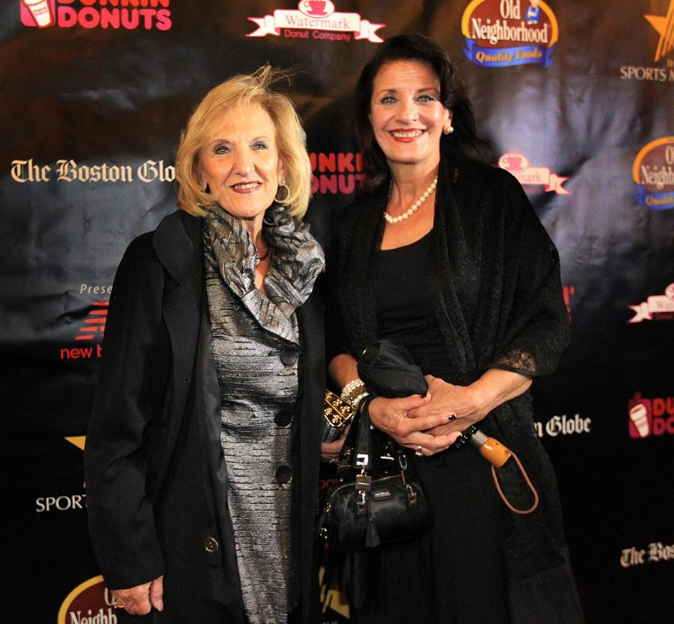 Cousins Stella Agganis Spyro-poulos (left) and Julie Agganis Ganias at the movie premiere.