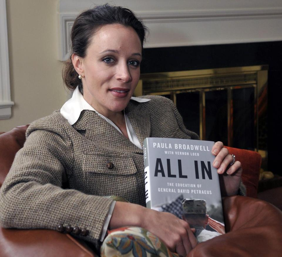 "Paula Broadwell, author of the David Petraeus biography ""All In,"" posed for photos in Charlotte, N.C. in early 2012."