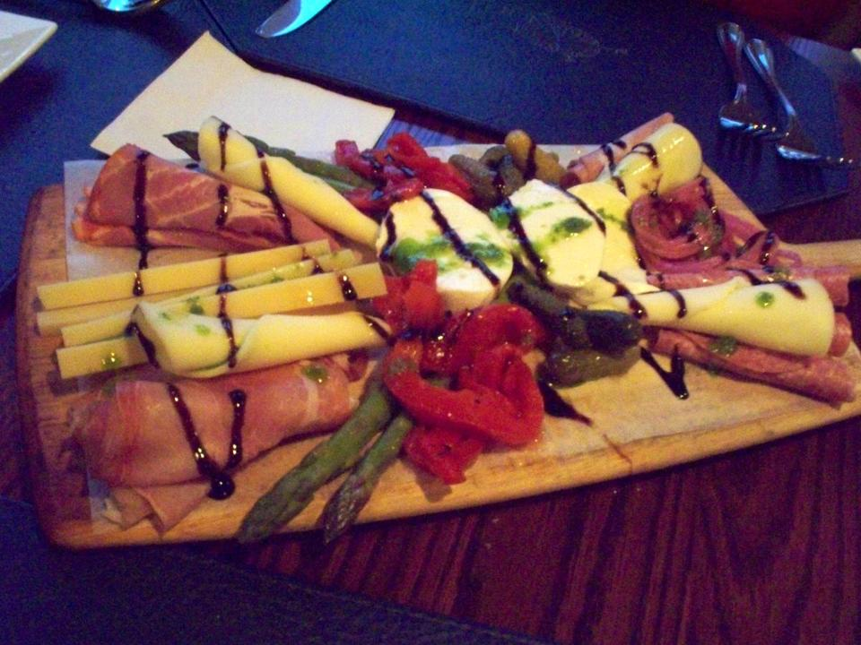 The antipasto board is suitable for sharing as an appetizer at 42 Degrees North in Plymouth's Manomet section.