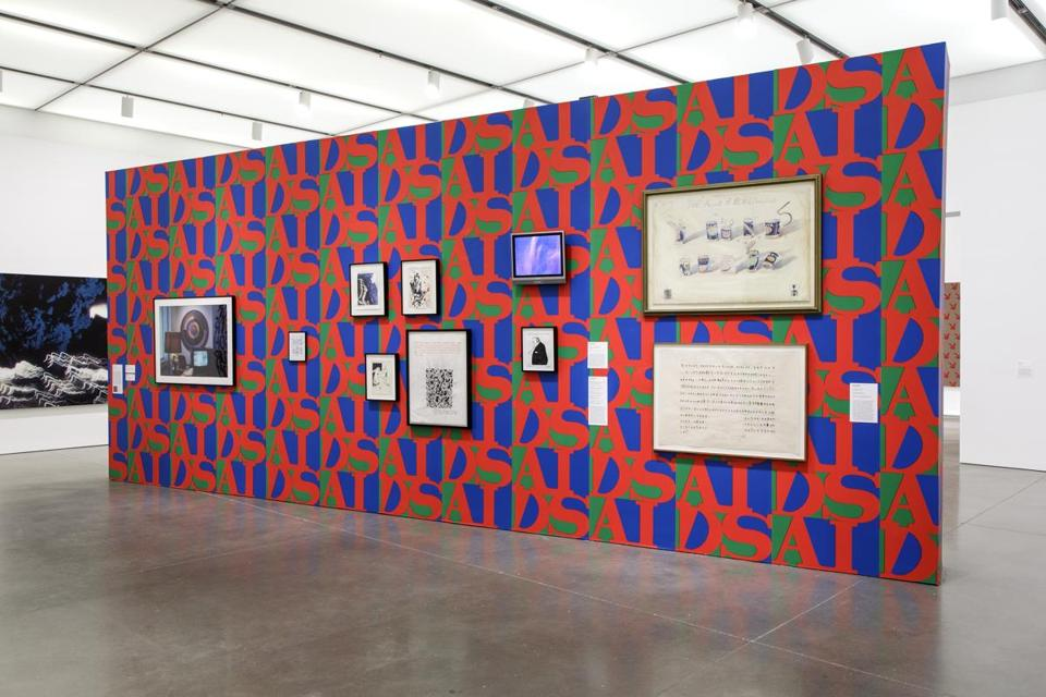 "Works installed on ""AIDS Wallpaper"" (1989) by General Idea."