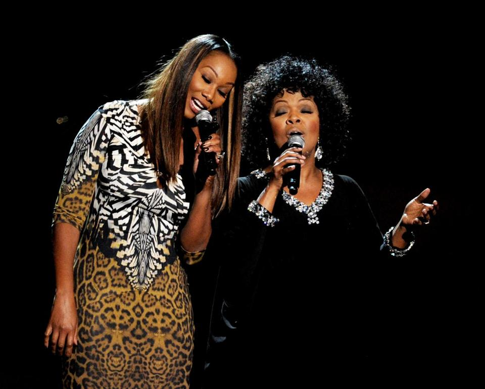 Singers Yolanda Adams (left) and CeCe Winans.