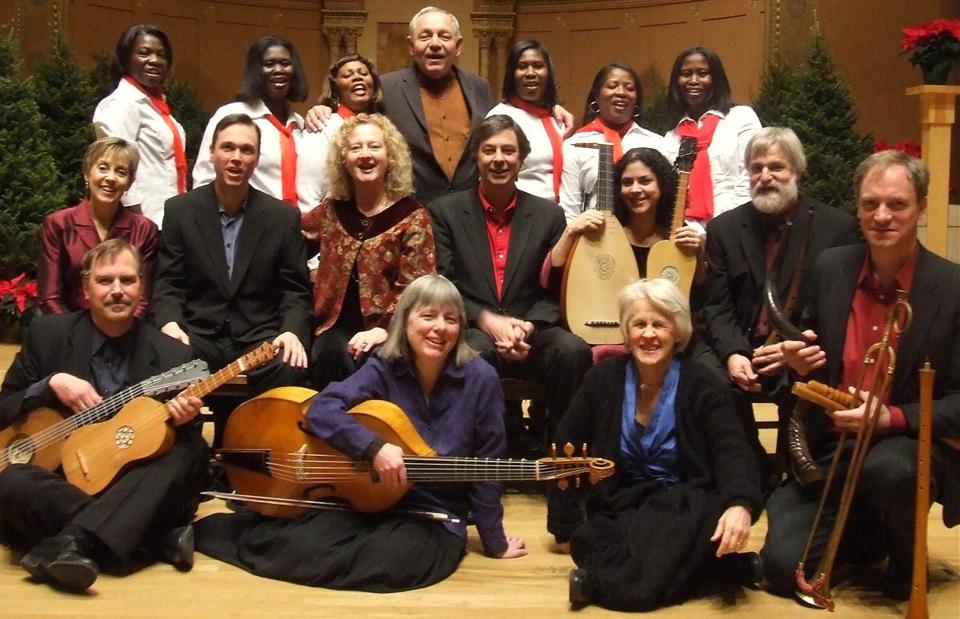 "The cast of Boston Camerata's holiday offering ""The Brotherhood of the Star: A Hispanic Christmas."""