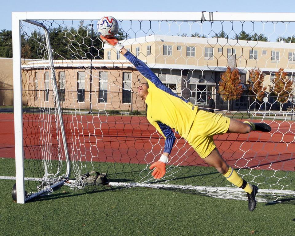 Weymouth High starting goalie Lucas Rezende-Verge, a junior, did not expect to be the varsity starter this season.
