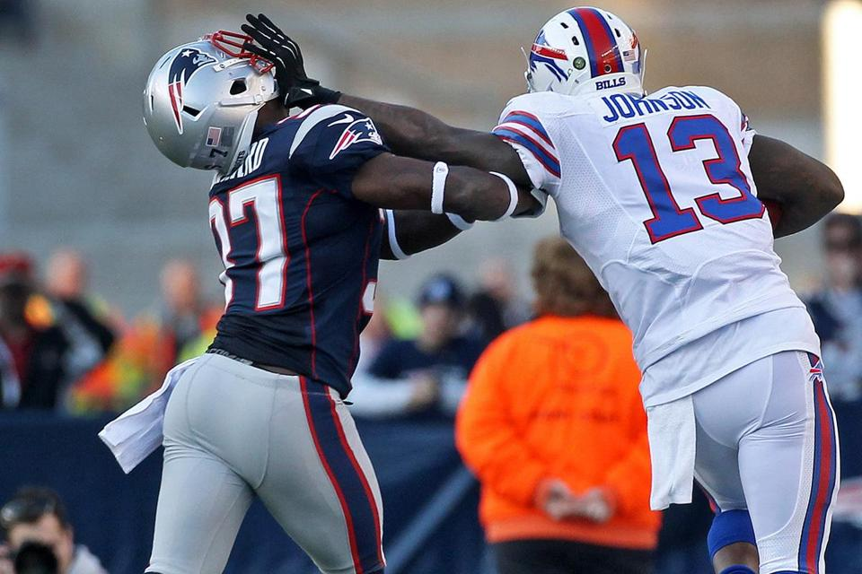 Alfonzo Dennard and his teammates on defense took a few smacks in the chops from Stevie Johnson and the Bills.