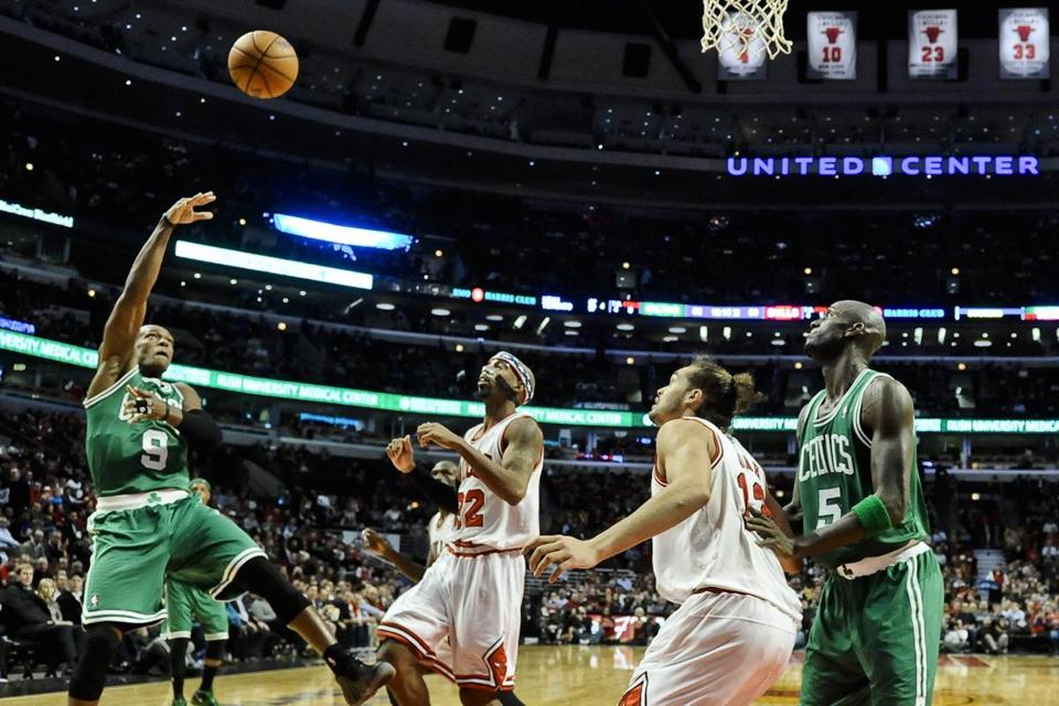 Celtic Rajon Rondo's (9) shot selection and shooting percentage is on the rise this season.