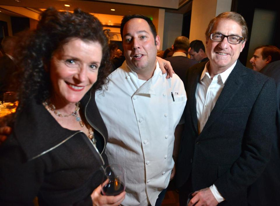 From left: Olivia English, chef Todd Winer, and Tracy Gallagher at The Met Club.