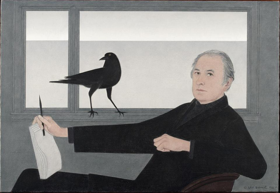 Will Barnet's self-portrait, an oil-on-canvas, made in 1981.