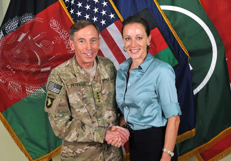 Davis Petraeus (left) and  Paula Broadwell