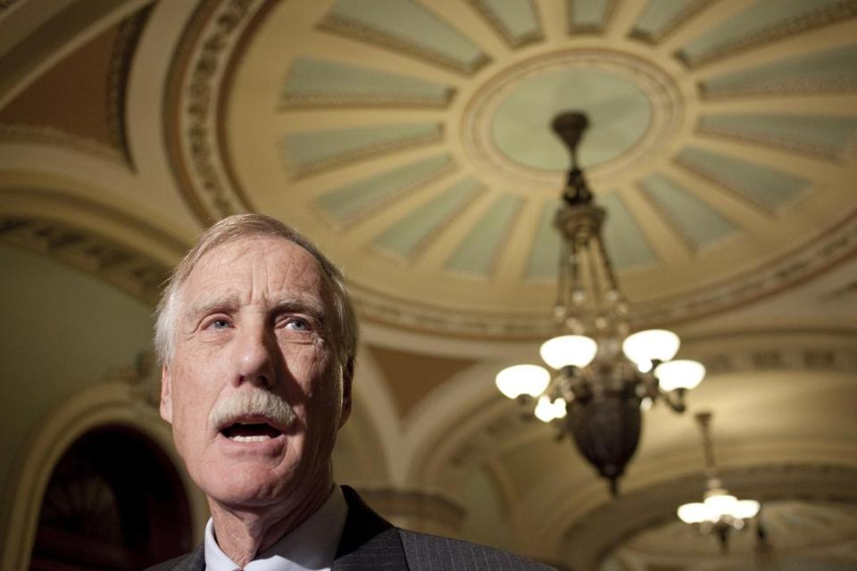 Senator-elect Angus King of Maine believes he can be more effective on Capitol Hill as a member of the majority.