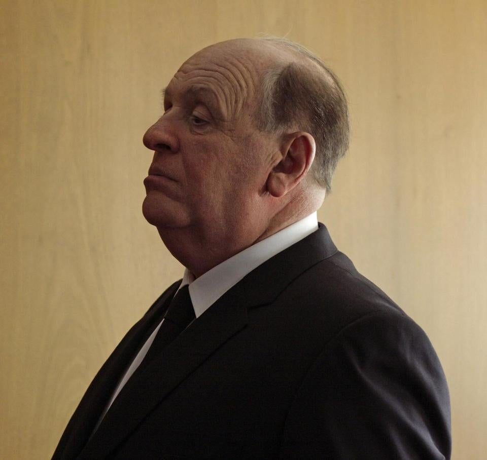 "Anthony Hopkins plays legendary director Alfred Hitchcock in the new movie ""Hitchcock."""