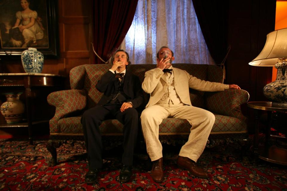 "Johannes Silberschneider as Gustav Mahler and Karl Markovics as Sigmund Freud in ""Mahler on the Couch."""