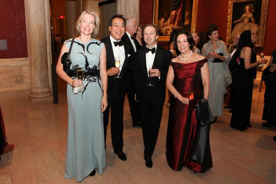From left: Meg Koerner, Yo-Yo Ma, Joseph Koerner, and Jill Horner at the MFA.