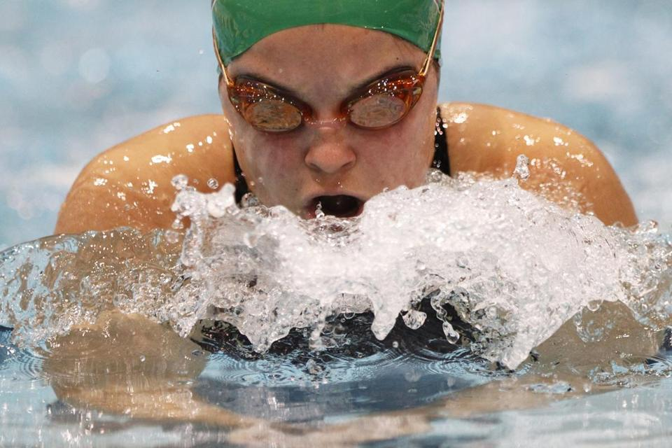 Bishop Feehan's Marisa Reidemeister made some waves during her 200-yard individual medley win in Division 2.