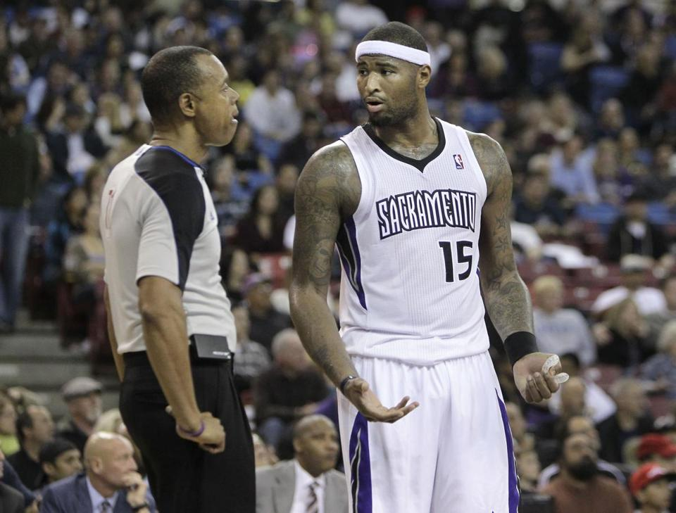 Sacramento Kings center DeMarcus Cousins is an intense player, a throwback because he doesn't fraternize with opponents.